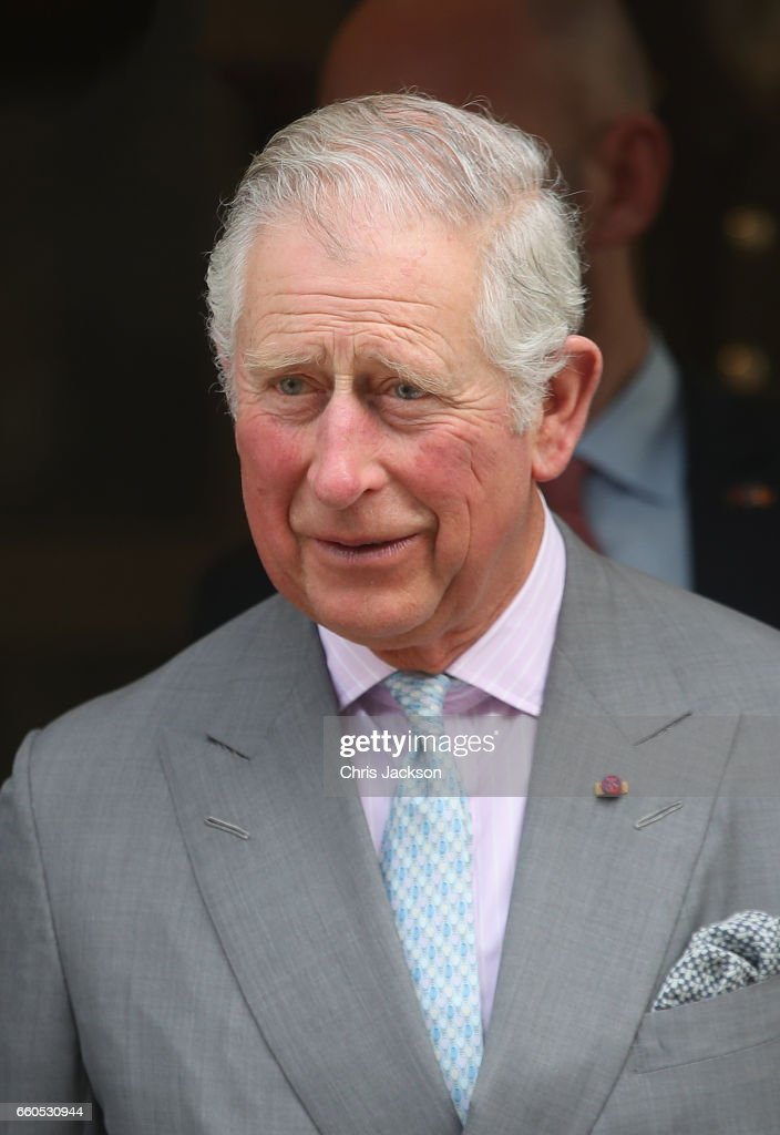 Prince Charles, Prince of Wales visits The British Embassy to attend a meeting on the Issue of Modern Slavery on the second day of his nine day European tour, on March 30, 2017 in Bucharest, Romania.