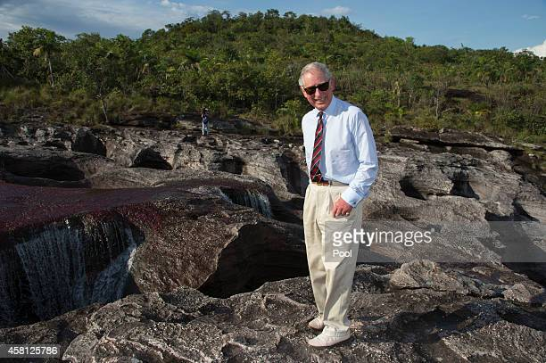 Prince Charles Prince of Wales visits the Chiribiquete National Park in Columbia on October 30 2014 The Royal Couple are on a four day visit to...