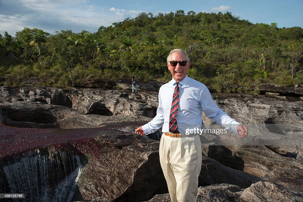 Prince Charles, Prince of Wales visits the Chiribiquete National Park in Columbia on October 30, 2014. The Royal Couple are on a four day visit to Colombia as part of a Royal tour to Colombia and Mexico. After fifty years of armed conflict in Colombia the theme for the visit is Peace and Reconciliation.