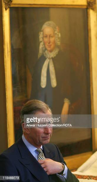 Prince Charles, Prince of Wales visits the Jewish Museum in London to celebrate its 75th anniversary on February 13, 2007.