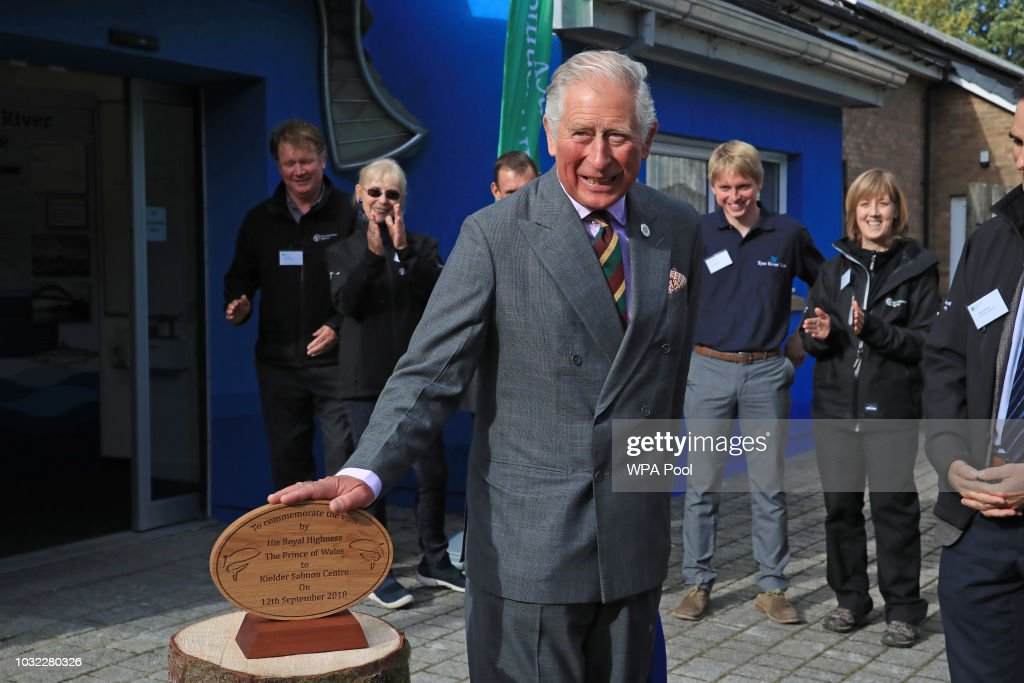 Prince Charles, Prince of Wales visits the Kielder Salmon Centre on September 12, 2018 in Hexham, Northumberland.
