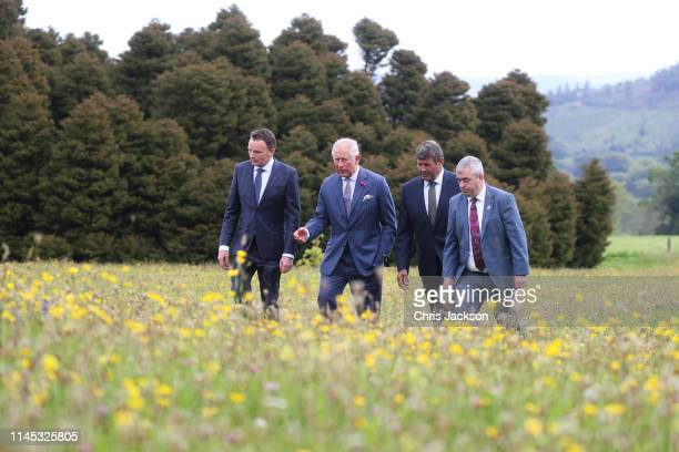 Prince Charles Prince of Wales visits the National Botanic Gardens during their visit to the Republic of Ireland on May 21 2019 in Dublin Ireland