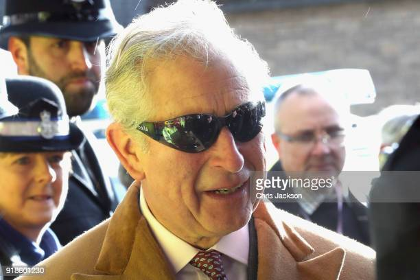 Prince Charles Prince of Wales visits the new Emergency Service Station at Barnard Castle on February 15 2018 in Durham England