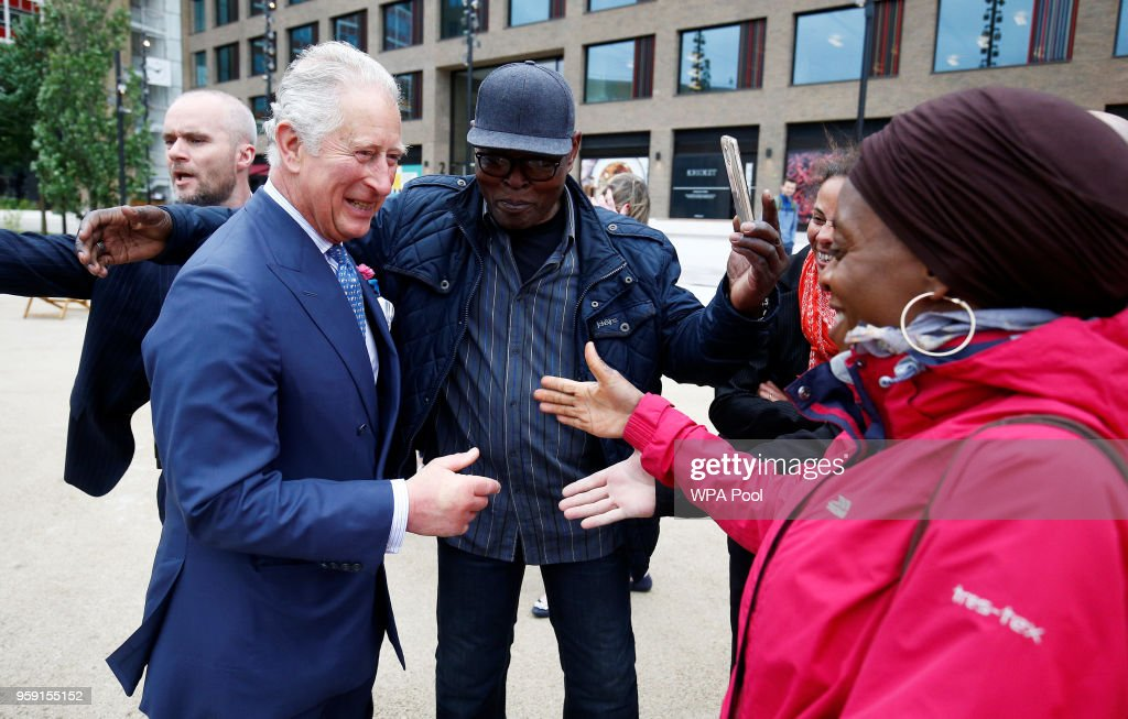 Prince Charles, Prince of Wales visits the new Tech Hub at the Yoox Net-a-Porter Group offices on May 16, 2018 in London England.