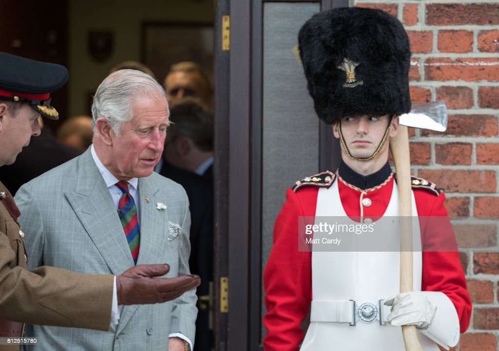 Prince Charles, Prince of Wales visits the Royal Welsh Regimental Museum during The Prince of Wales' annual Summer visit to Wales on July 11, 2017 in Brecon, Wales.