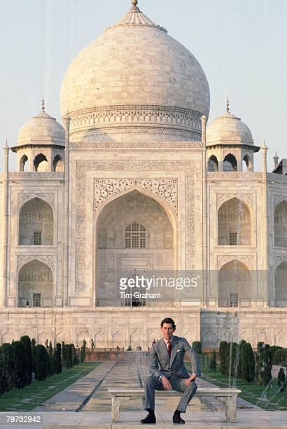 Prince Charles, Prince of Wales visits the Taj Mahal in India