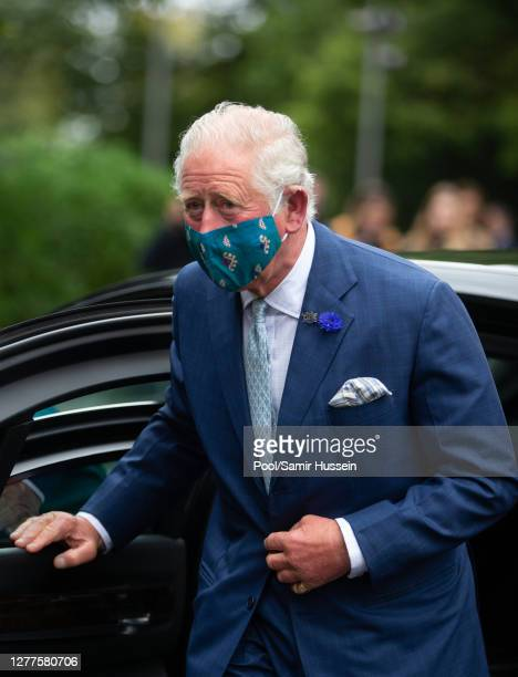 Prince Charles Prince of Wales visits the Ulster Museum on September 30 2020 in Belfast United Kingdom