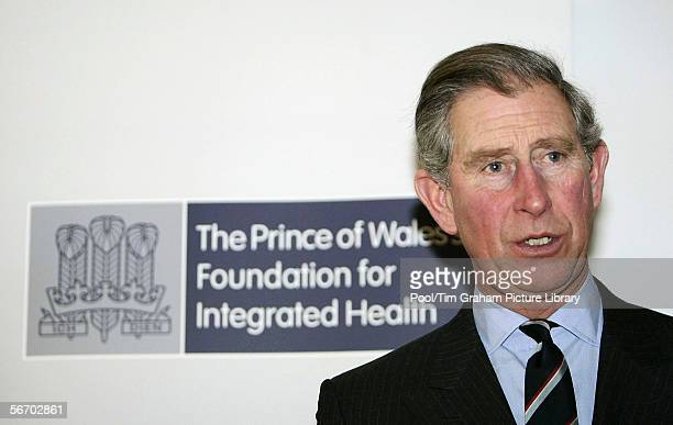 Prince Charles Prince of Wales visits the Wellspring Health Living Centre in Bristol before presenting the Prince of Wales' Foundation for Integrated...