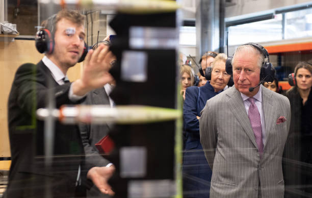 GBR: The Prince Of Wales Visit The Whittle Laboratory