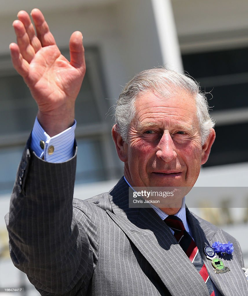Prince Charles, Prince of Wales waves during a visit to Christchurch on November 16, 2012 in Christchurch, New Zealand. The Dance-O-Mat was set up to give people the opportunity to keep dancing after many of the venues were destroyed by the earthquake of 2010. The Royal couple are in New Zealand on the last leg of a Diamond Jubilee that takes in Papua New Guinea, Australia and New Zealand.