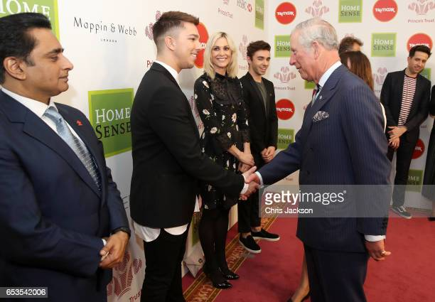 Prince Charles Prince of Wales with Matt Terry as they attend the Prince's Trust Celebrate Success Awards on March 15 2017 in London England