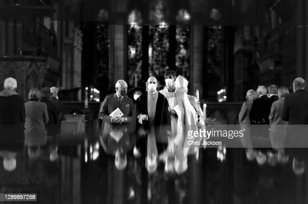 Prince Charles, Prince of Wales with the Dean of Salisbury, the Very Reverend Nicholas Papadopulos during a visit in celebration of the 800th...