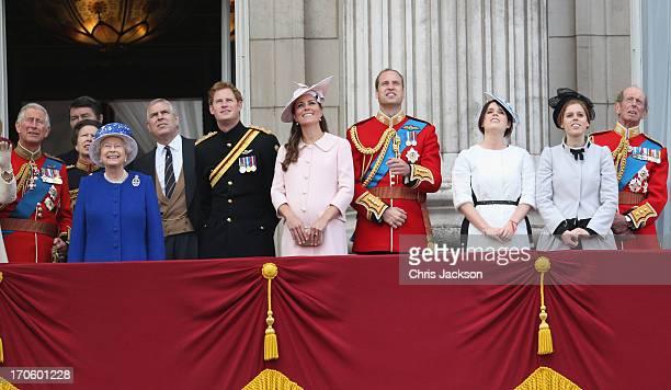 Prince Charles Prince of Walesl Princess Anne Princess Royal Queen Elizabeth II Prince Andrew Duke of York Prince Harry Catherine Duchess of...