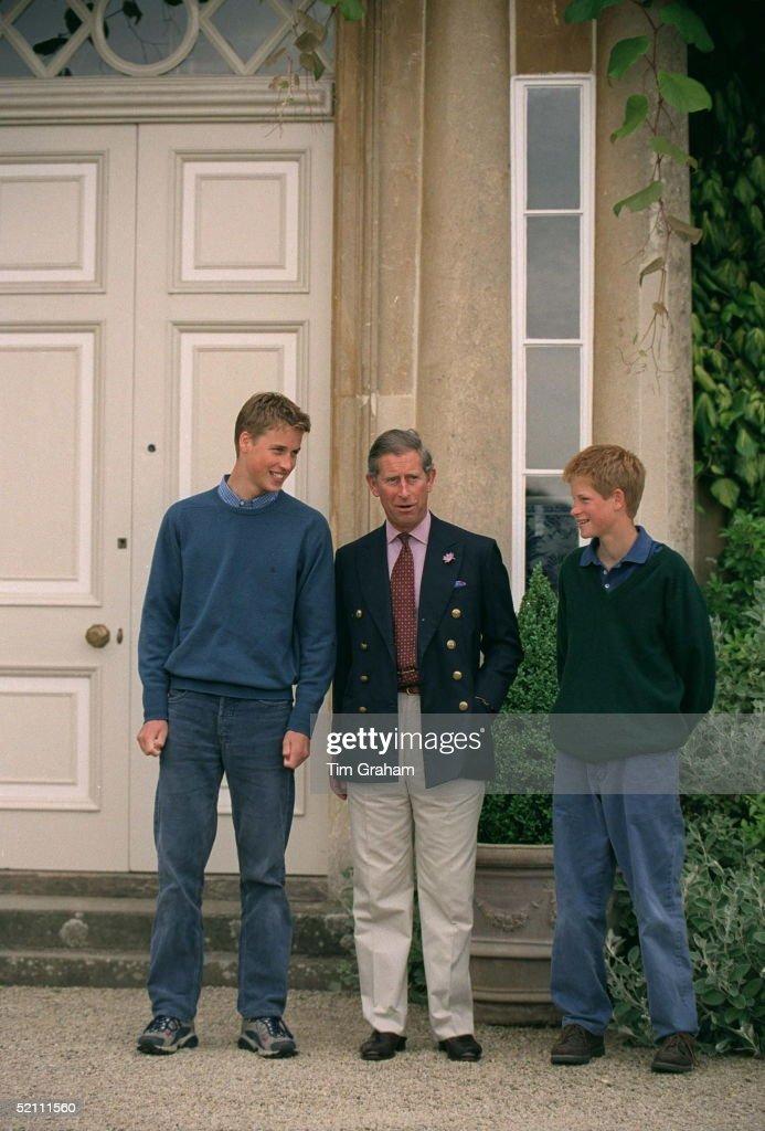 Prince Charles, Prince William & Prince Harry At Highgrove, Gloucestershire
