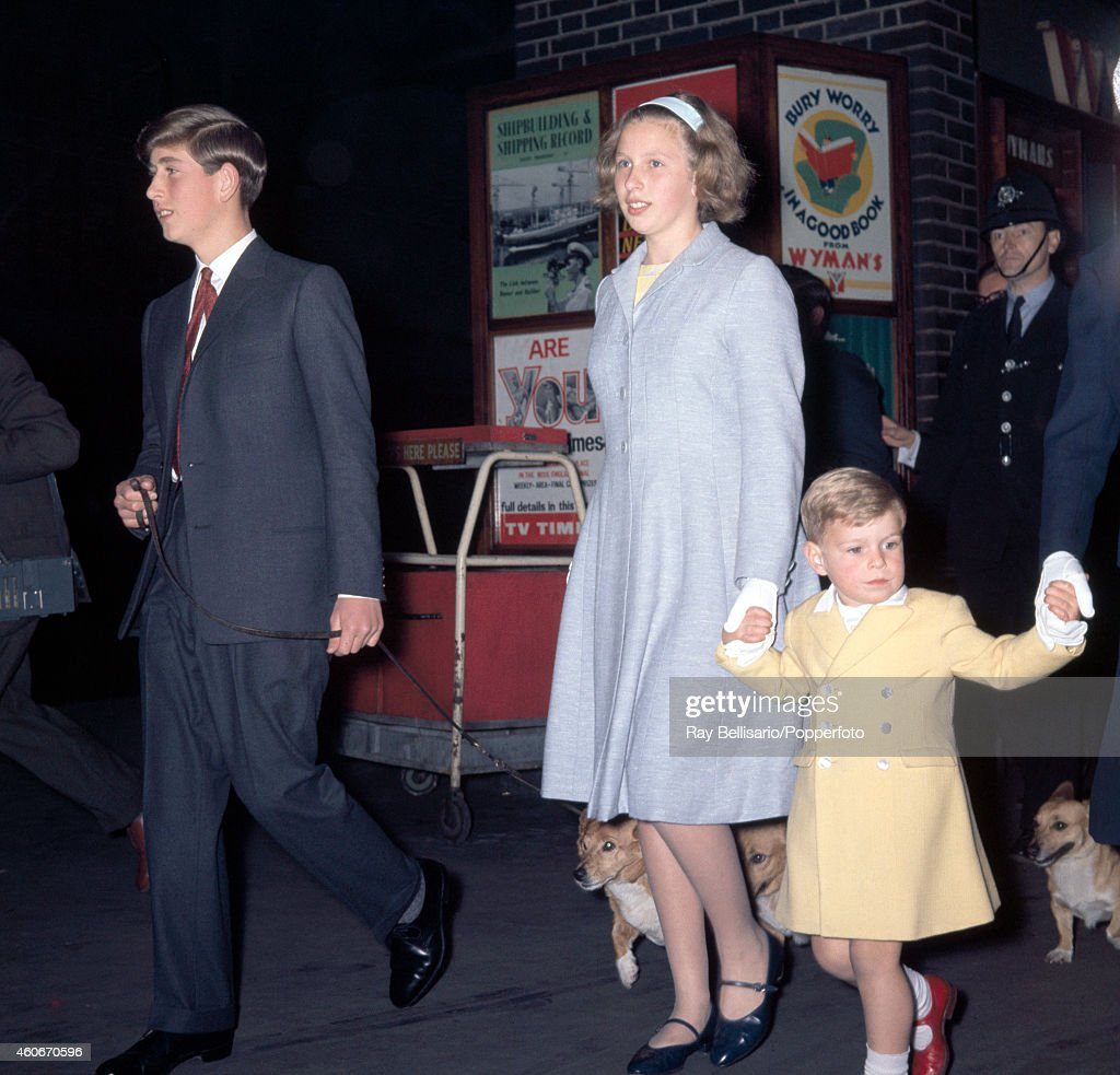 Prince Charles With Princess Anne And Prince Andrew : News Photo