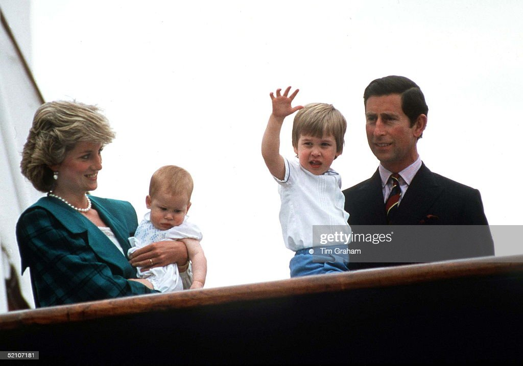 Wales Family On Royal Yacht 1985 : News Photo