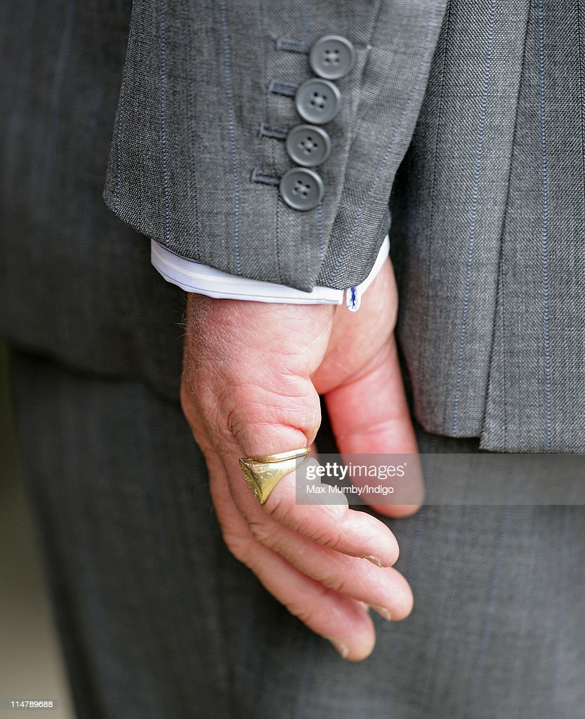 Ring On Left Ring Finger: Prince Charles' Signet Ring And Wedding Ring Seen On His