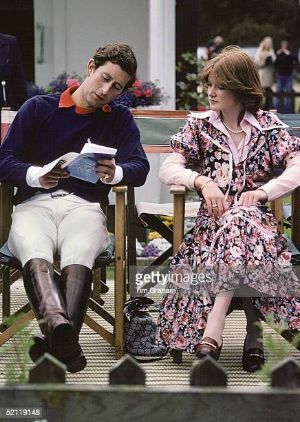 Prince Charles Sitting Next To Lady Sarah Spencer At A Polo Match