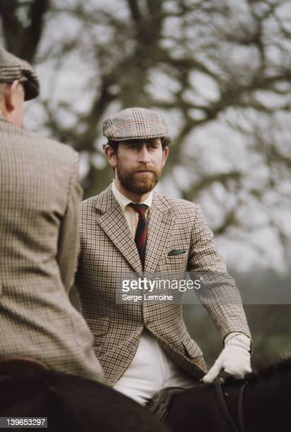 Prince Charles sporting a beard at the Badminton Horse Trials, UK, 1976.