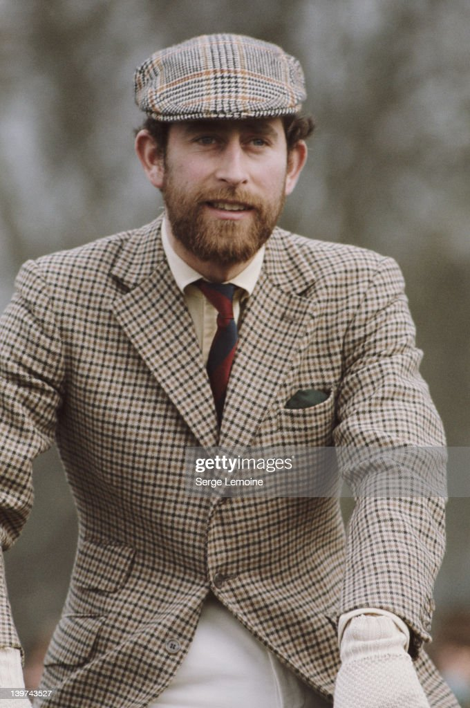 Prince Charles sporting a beard at the Badminton Horse Trials, UK, 1976.