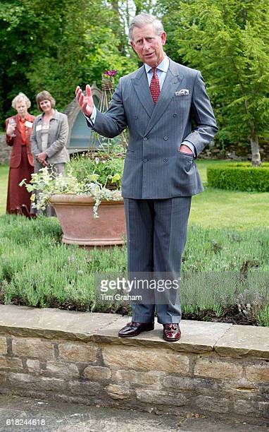 JUNE 2005*** Prince Charles stands in one of his gardens to address members of the National Gardens Scheme of which the Prince is patron following a...