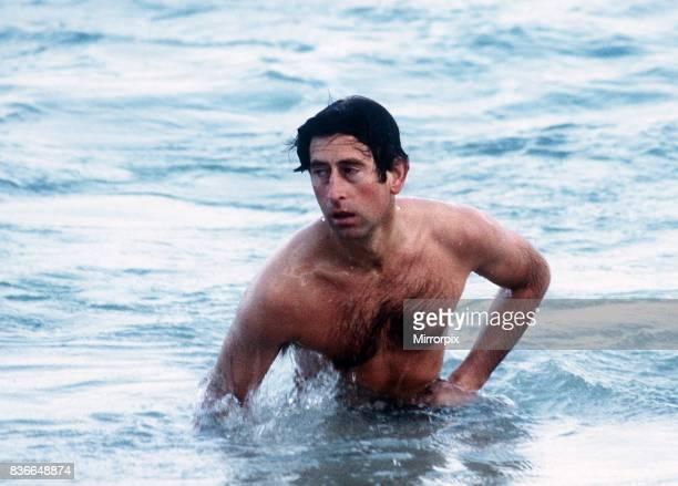 Prince Charles swimming at Cottesloe Beach in Perth, Australia April 1983.
