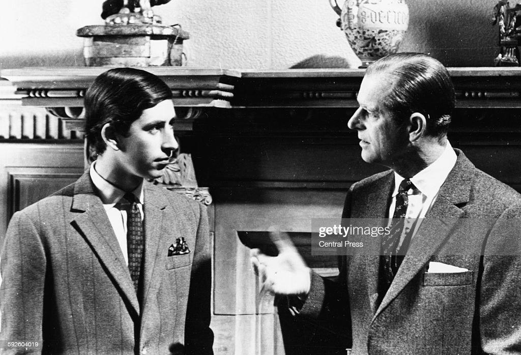 Prince Charles And The Duke Of Edinburgh : News Photo