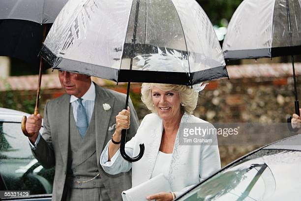 Prince Charles The Prince of Wales and Camilla Duchess of Cornwall at the wedding of the Duchess' son Tom ParkerBowles to his bride Sara Buys after...