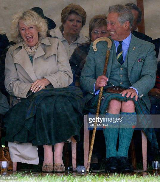 Prince Charles, the Prince of Wales, and Camilla, Duchess of Cornwall in their role as the Duke and Duchess of Rothesay, attend the Mey Highland...
