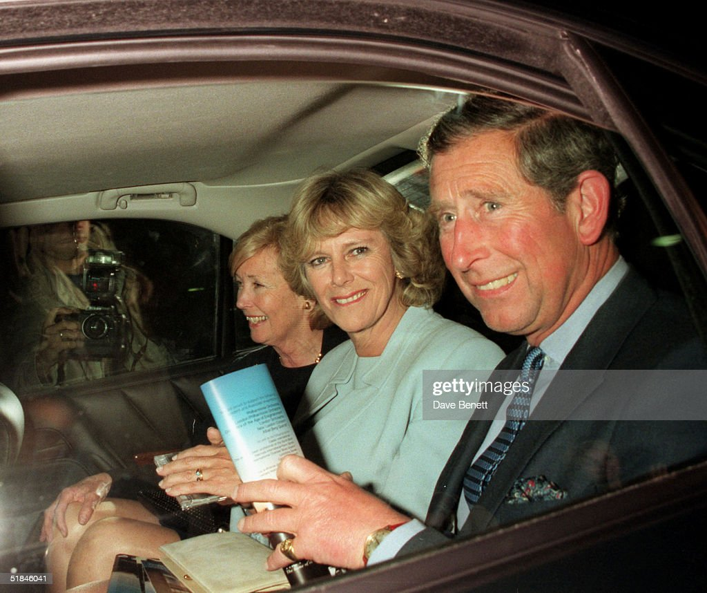 Prince Charles, the Prince of Wales and Camilla Parker-Bowles leave the Royal Festival Hall after the performance Of Rachmaninoff's Hidden Perspectives on May 6th, 1999 in London.