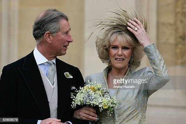 Prince Charles the Prince of Wales and his wife Camilla the Duchess Of Cornwall attend the Service of Prayer and Dedication following their marriage...