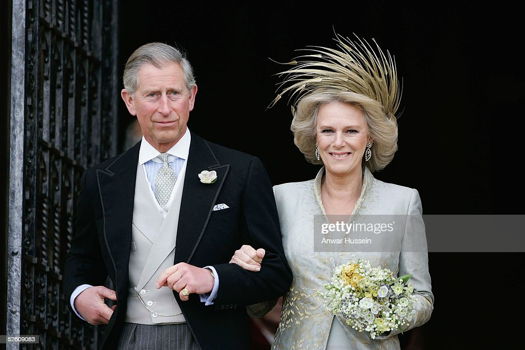 TRH Prince Charles & The Duchess Of Cornwall Attend Blessing At Windsor Castle : News Photo