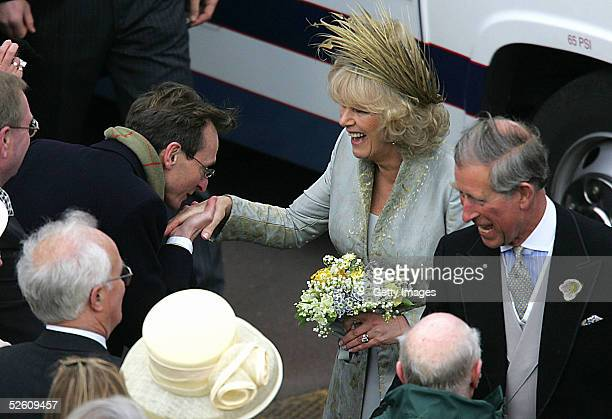 TRH Prince Charles the Prince of Wales and his wife Camilla the Duchess of Cornwall greet wellwishers after the Service of Prayer and Dedication...