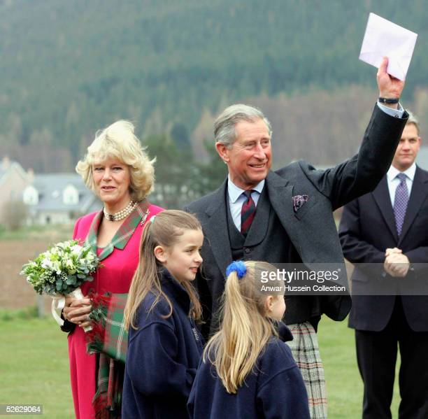 TRH Prince Charles the Prince of Wales and his wife Camilla the Duchess of Cornwall in their role as the Duke and Duchess of Rothesay take time out...