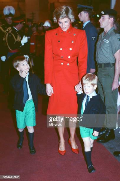 Prince Charles The Prince of Wales and Princess DianaThe Princess of Wales with their children Prince William and Prince Harry attend The Royal...