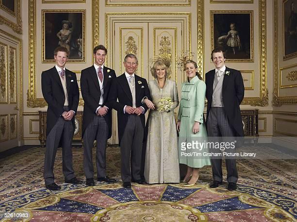WINDSOR ENGLAND APRIL 9 TRH Prince Charles The Prince of Wales and The Duchess Of Cornwall Camilla ParkerBowles for the Official Wedding photograph...