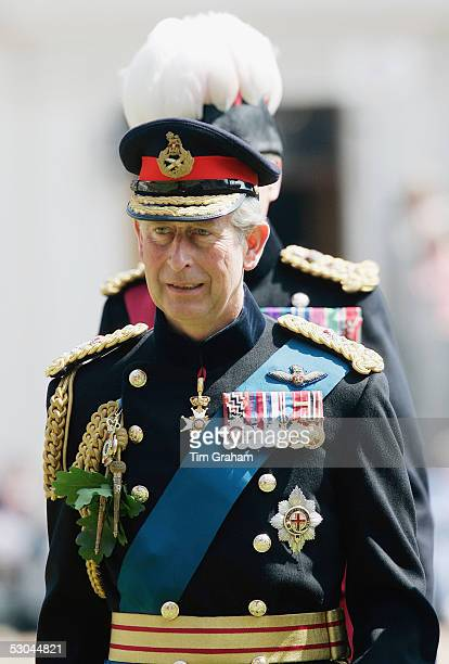 Prince Charles, the Prince of Wales, attends the annual Founder's Day Parade at the Royal Hospital in Chelsea on June 9, 2005 in London, England. The...