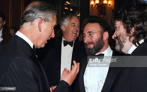 Prince Charles the Prince of Wales, chats to actor Sir Anthony Sher