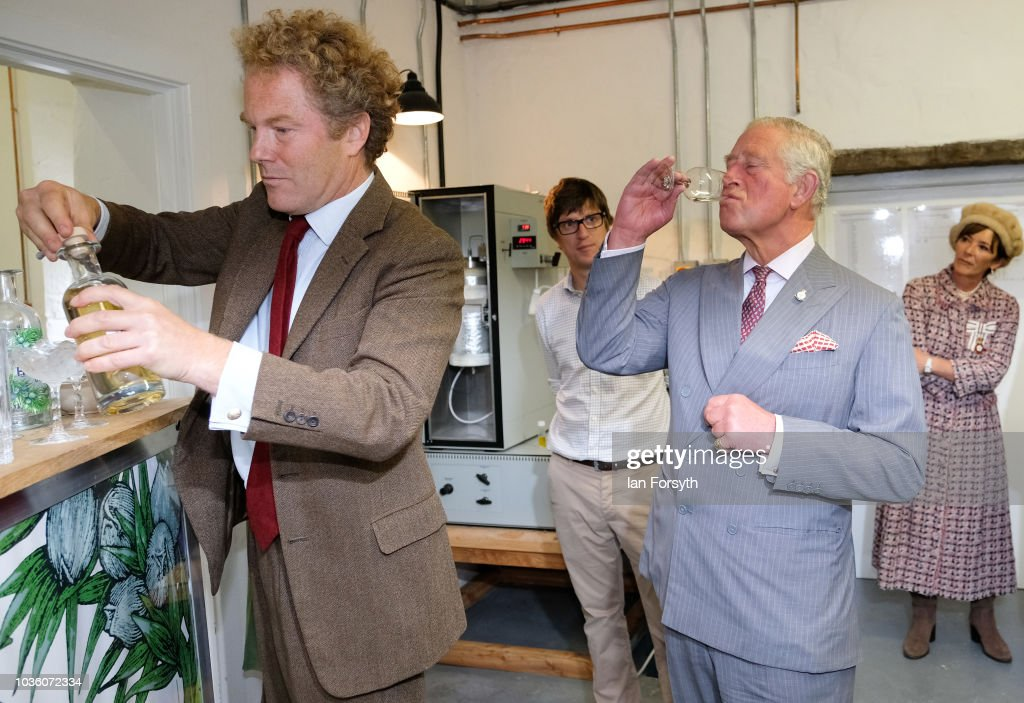 The Prince Of Wales Visits The Moorlands Spirit Company : News Photo