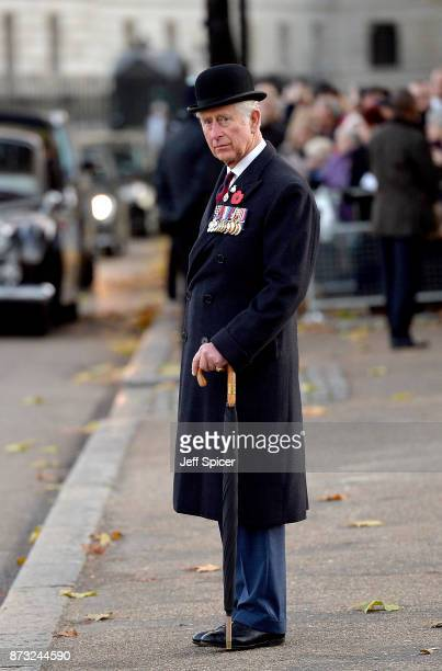 Prince Charles The Prince of Wales is pictured after laying a wreath at the Guards' Memorial on November 12 2017 in London England The Prince of...