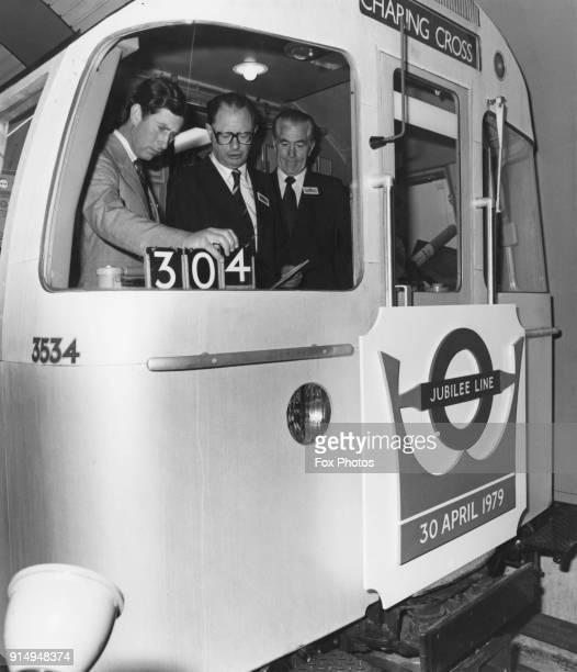 Prince Charles the Prince of Wales officially opens the first stage of the new Jubilee Line at Charing Cross Station in London 30th April 1979