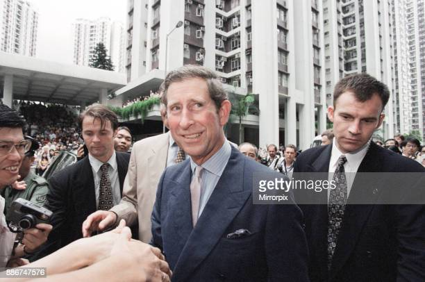 Prince Charles , the Prince of Wales, pictured in Hong Kong ahead the official handover to China. June 1997.
