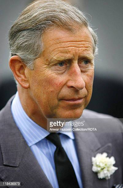 Prince Charles the Prince of Wales visits a housing development in Truro which has been built on land previously owned by The Duchy of Cornwall on...