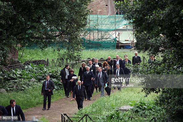 Prince Charles the Prince of Wales visits the House of Augustus during a visit on April 27 2009 in Rome Italy The Prince of Wales and The Duchess of...