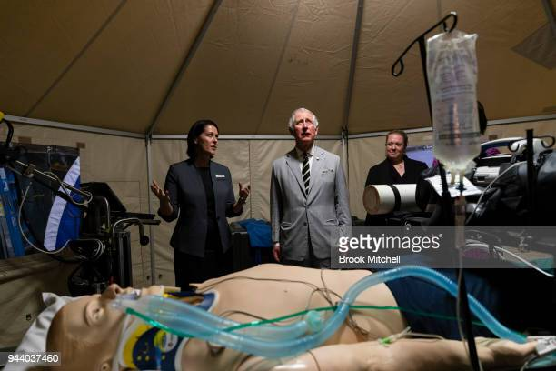 Prince Charles The Prince of Wales visits the NCCTRC which prepares medical and logistics teams for deployment following disasters on April 10 2018...