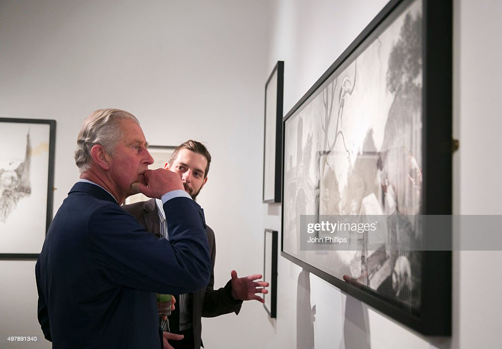 The Prince Of Wales Attends The Royal Drawing School Exhibition : News Photo