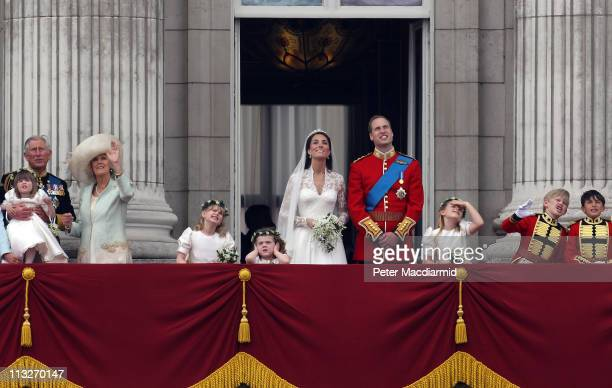 Prince Charles The Prince of Wales with Camilla Duchess of Cornwall with Eliza Lopes Lady Louise Windsor Grace van Cutsem Prince William Duke of...