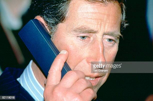 Prince Charles Using A Telephone At The Business In The Community Exhibition Of Welsh Community Enterprise In Cardiff On St Davids Day 1st March 1994...