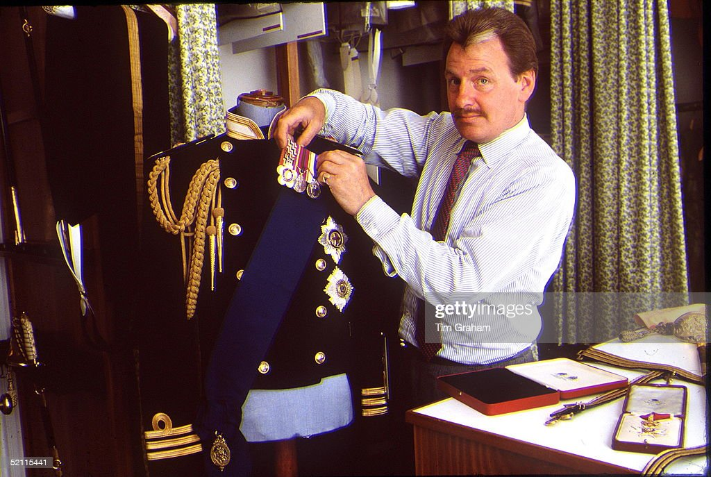 Prince Charles' Valet, Ken Stronach, In The Uniform Room At Kensington Palace.