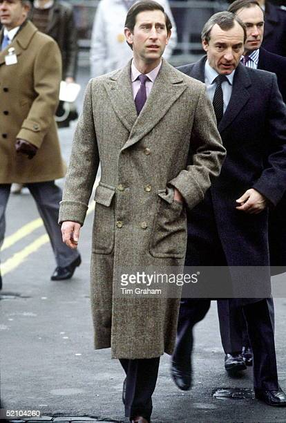 Prince Charles Visiting Carlisle With His Bodyguard Barry Mannakee Immediately Behind Him